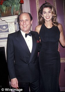Mixing with the jet set: Mr Perelman with Sheryl Crow (left) and Cindy Crawford (right)