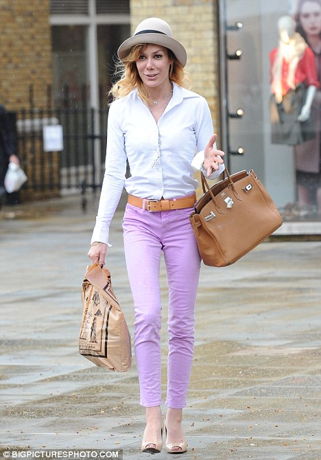 Bouncing back: Tara Palmer-Tomkinson looked fresh faced in Chelsea, earlier today