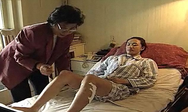 Surgery: Xing went under the knife 17 years ago. She said she was terrified of telling her military father but he took it well