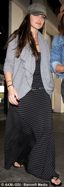 Long flight home: Minka and Wilmer both arrived back to Los Angeles today