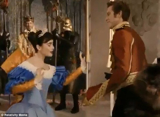 Prince Charming: A prince is seen dancing with the starlet in the videoLily