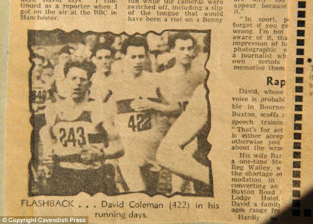 Mrs Brown still has this newspaper cutting showing her husband Walter (numbered 243) competing against David Coleman