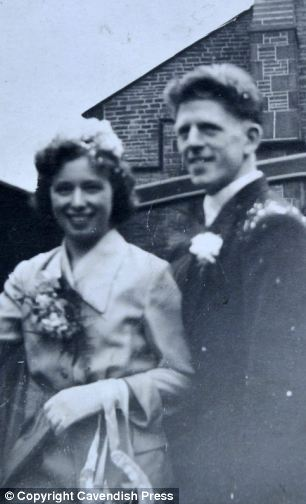 Mrs Brown and her husband Walter on their wedding day