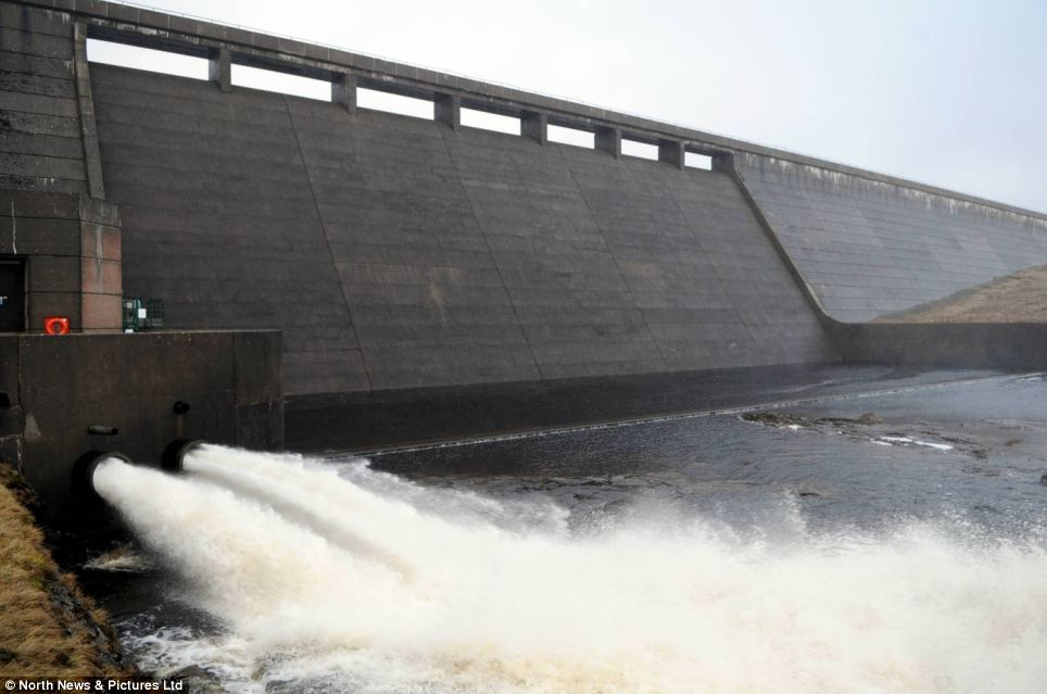 Water lot of water: At Cow Green Reservoir, in County Durham, the stocks are building up