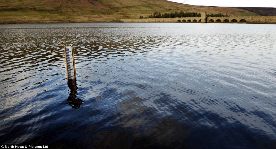 There's too much water for the reservoir at Scar House, in North Yorkshire, that is now near full capacity
