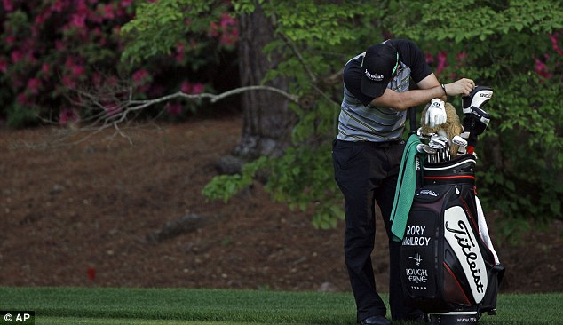 Nowhere to hide: McIlroy was the perfect picture of a broken man on the Sunday last year
