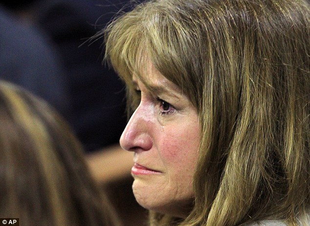 Grieving: Lili Wilson, the victim's mother, wept when Goodman's 911 call was played in court last week