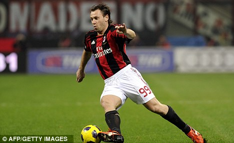Milan man: Cassano will hope to return to the San Siro soon