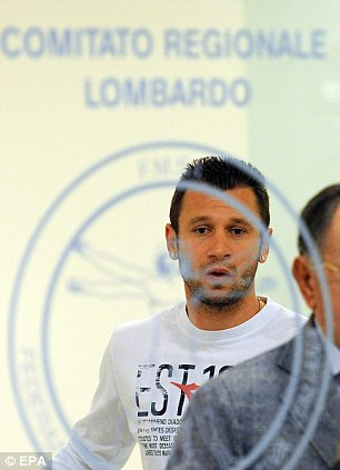 Return to action: Cassano will be able to play for Milan after recovering from his heart surgery