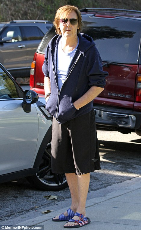Casual: McCartney spotted in Beverly Hills