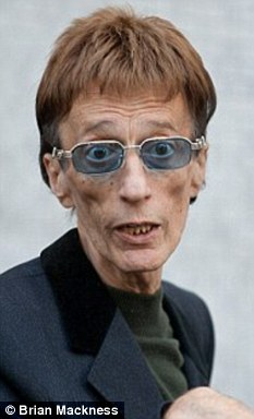 Frail: The singer was pictured in October looking worryingly thin
