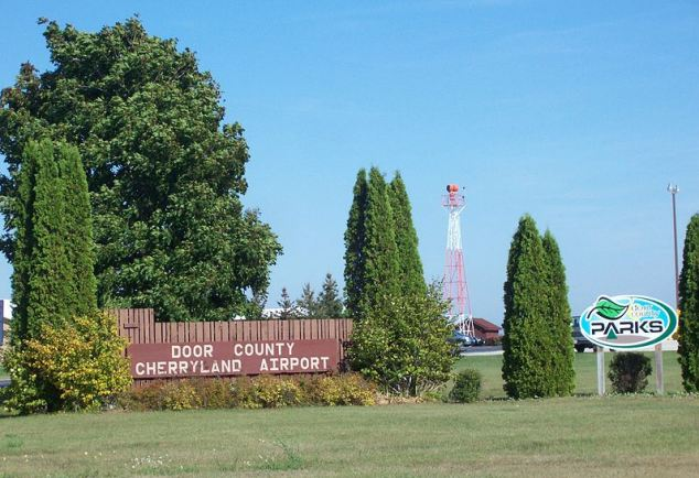 The Door County Cherryland Airport in Wisconsin, the scene of Monday's miracle landing.