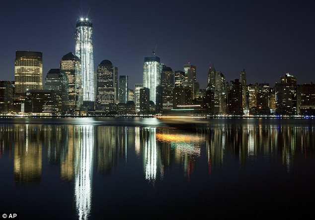 Icons: The towers stood out among the skyscrapers of Lower Manhattan in this photograph taken last week