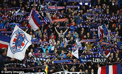 Standing firm: Fans continue to come out in support of the crisis club
