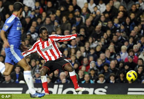 In demand: Gyan had impressed at Sunderland before his shock exit earlier this season