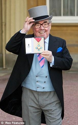Honour: Ronnie Corbett was made an CBE for services to Entertainment and to Charity Investitures at Buckingham Palace last month