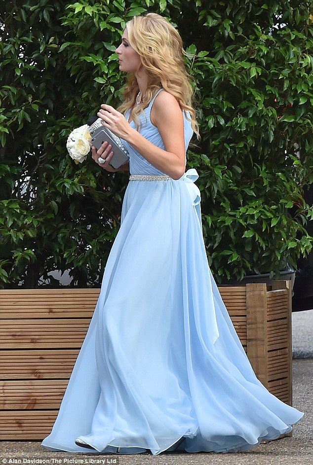 Beautiful: A shot of the dress from the side shows just how beautiful its shape is, with the full skirt fanning out in the breeze