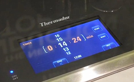 Set the controls: Thermador's cooktop allows you to set times as well as temperatures