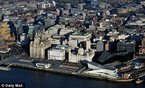 Difficult times: The centre of Liverpool which has proved the hardest-hit city