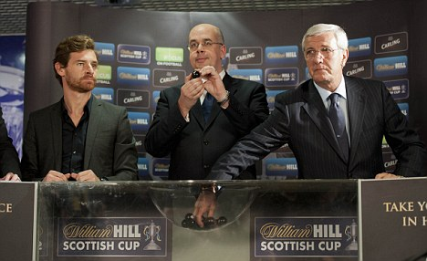 Quick on the draw: Andre Villas-Boas (left) and Marcello Lippi (right) at Hampden