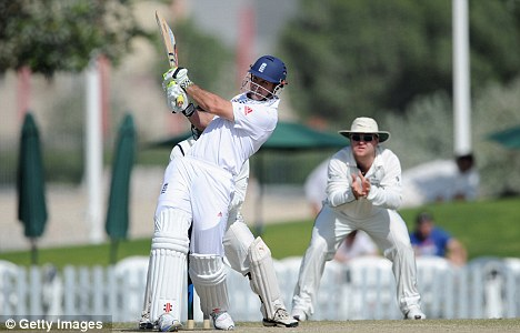 Top scorer: Andrew Strauss reached 78 off 96 balls with his innings forming the backbone of England's run chase