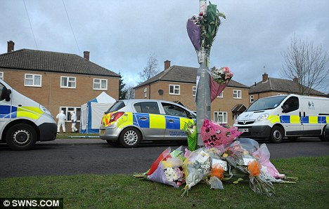 Tributes have been left at the scene while police continue to investigate Mr Snowden's death