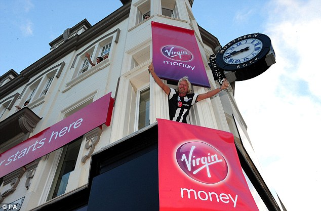 Delighted: Branson appears to be ecstatic with his new kit