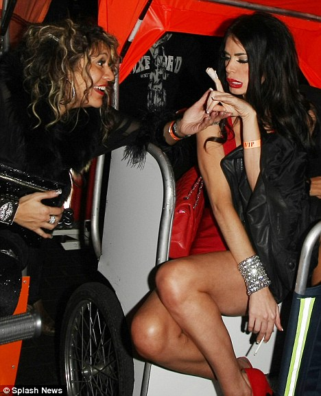 Ouch! The mother-of-one showed off her bandaged finger - sustained from a previous night out with Lauren and Frankie on December 23