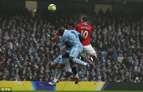 Cup cracker: All eyes were on the Etihad as Manchester City faced United