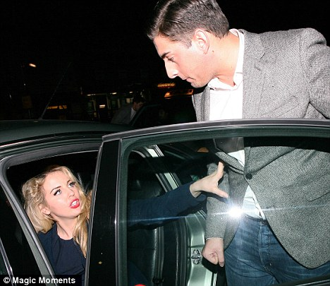 Argument: The pair left the club in separate taxis following the row after Lydia was apparently seen kissing another man