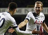 "Football - Tottenham Hotspur v West Ham United - Barclays Premier League - White Hart Lane - 22/11/15  Harry Kane celebrates with Dele Alli after scoring the third goal for Tottenham  Action Images via Reuters / Matthew Childs  Livepic  EDITORIAL USE ONLY. No use with unauthorized audio, video, data, fixture lists, club/league logos or ""live"" services. Online in-match use limited to 45 images, no video emulation. No use in betting, games or single club/league/player publications.  Please contact your account representative for further details."