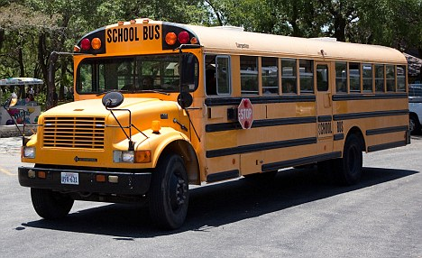 In danger: Fortunately no one was killed or injured when the eight-year-old fired the gun on a packed school bus