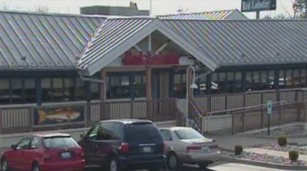 The alleged assault took place at the Red Lobster restaurant in Fairview Heights, Illinois, on Friday
