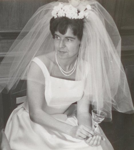 Unhappy marriage: Irmgard on her wedding day. She divoreced her husband when Christine was nine years old