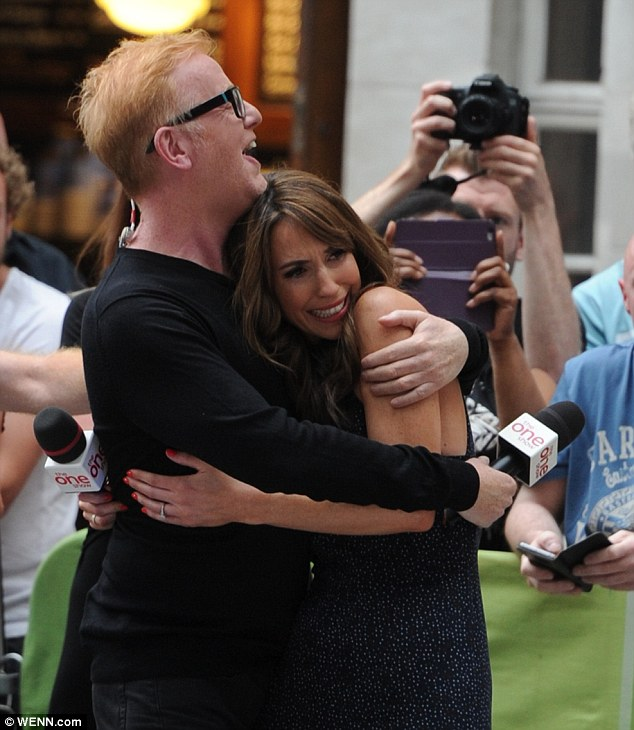 Teary: Alex Jones paid an emotional goodbye to her One Show co-host Chris Evans today as he bid farewell to the show after more than five years