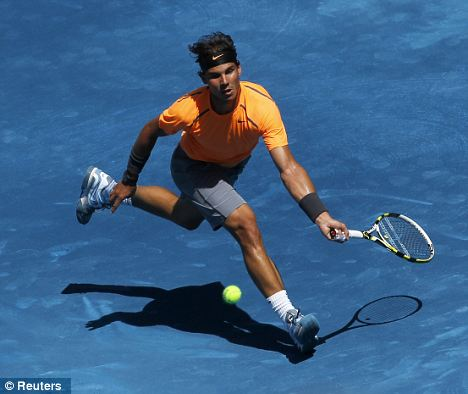 Feeling blue: Rafael Nadal was unhapy with courts