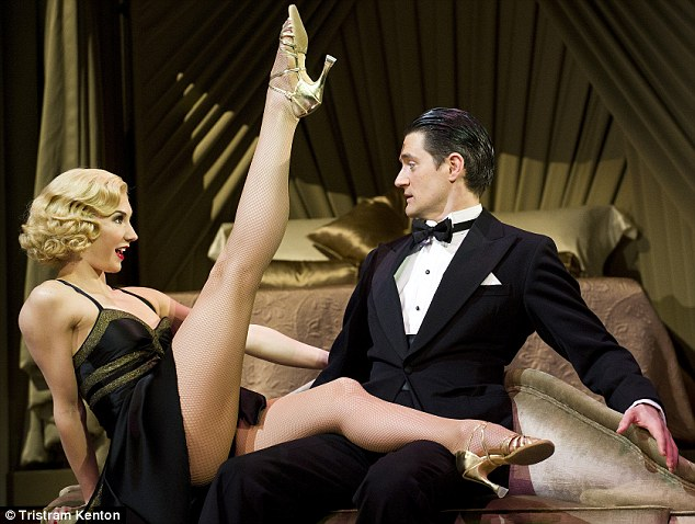 Dance stars: Tom Chambers as Jerry Travers and Summer Strallen as Dale Tremont in Top Hat Aldwych Theatre