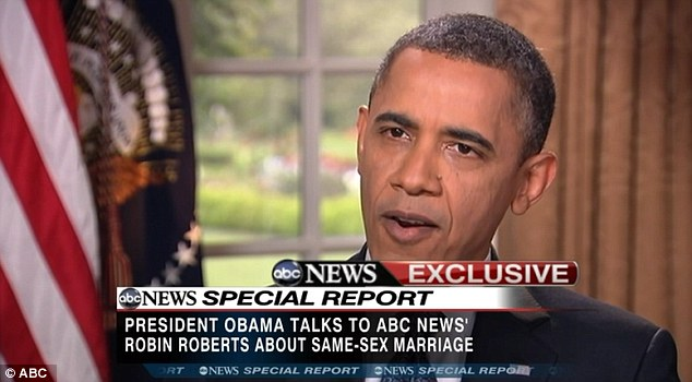 Forced: President Barack Obama had to bring forward his announcement in support of gay marriage after Biden's comments