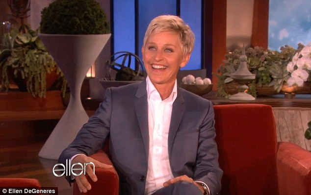 Thanks: Ellen DeGeneres, along with other celebrities, thanked Obama for the move, which she called 'brave'