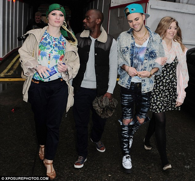 We're with Jessie! The singer's Voice acts (L-R) Toni Warne, Cassius Henry, Vince Neil and Becky Hall attended the gig