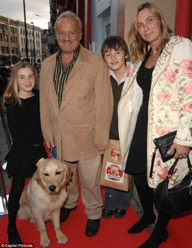 Suffered a downturn: Antony Worrall Thompson with wife Jacinta and children