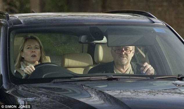 Apology: Antony Worrall Thompson being driven home after being exposed for shoplifting