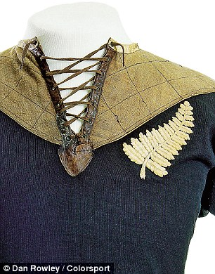 £10,000-£15,000: This unidentified jersey was worn by the New Zealand rugby team on their tour of the UK in 1905