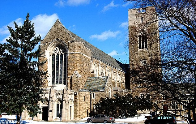 Acceptance: The church at the exclusive Cranbrook school which Mitt Romney attended in his teens