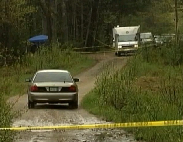 Back of beyond: The body was discovered on a remote road near South Berwick, Maine