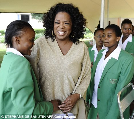 Graduation day: Oprah Winfrey visited her South African school for girls