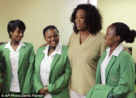 Onwards and upwards: The girls are all heading to universities across South Africa and the United States