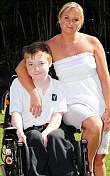 Declan Spencer with his mother Alexandra