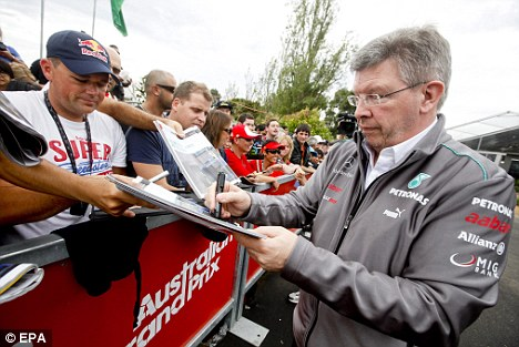Absent friend: Mercedes will be without Ross Brawn in Catalunya