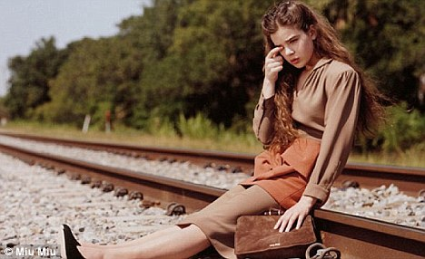 Banned: Hailee Steinfeld's ad for Miu Miu was banned after it was deemed 'irresponsible'